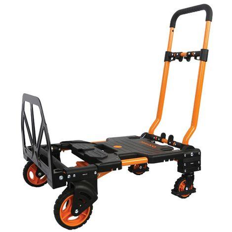 Chariot diable pliable 136 kg 2 Positions BRIXO Chariot professionnel à roues Haute Qualité
