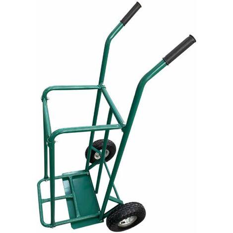 Chariot diable pour bûches avec roues gonflables Werkapro