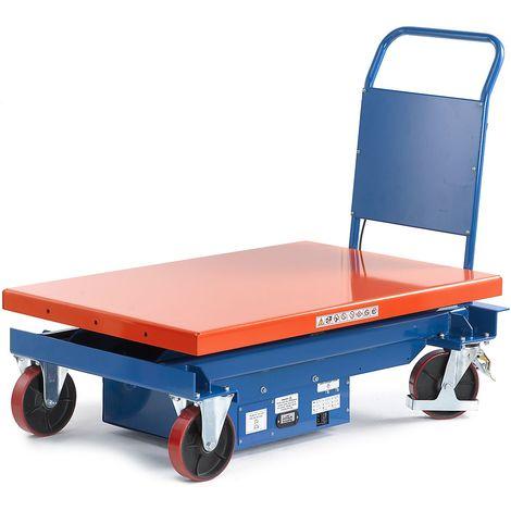 Chariot électrique à plate forme élévatrice, plage de levée 430 – 1230 mm force 1000 kg