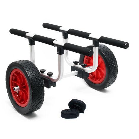 chariot en aluminium 90kg, grande roue en PU Ø31cm & largeur réglable