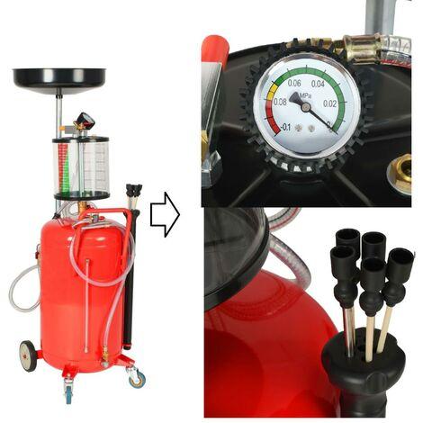 Chariot Extracteur / récuperateur d'huile pneumatique 70L