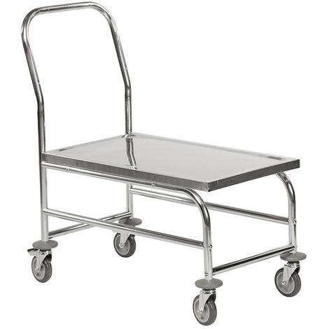 Chariot inox surélevé - Charge max 100kg