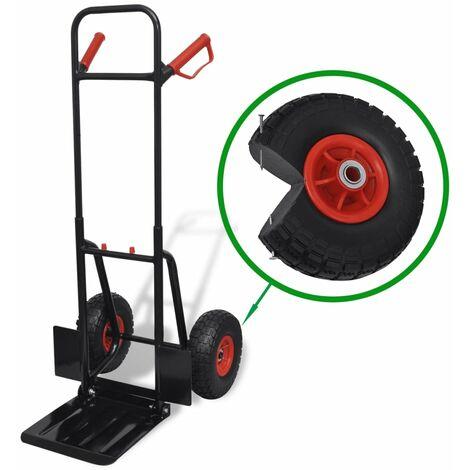 Chariot métallique télescopique Noir et rouge