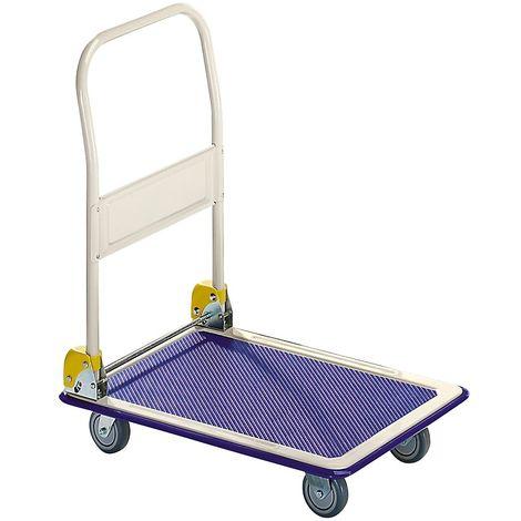 Chariot plate-forme - barre de poussée pliable - force 200 kg
