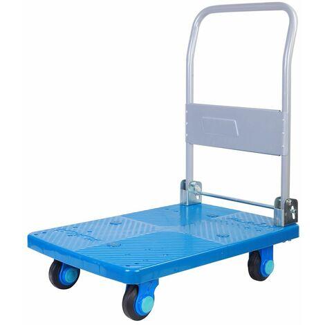 Chariot plateforme 150 kg pliable, silencieux et très maniable MW-Tools PP150T1