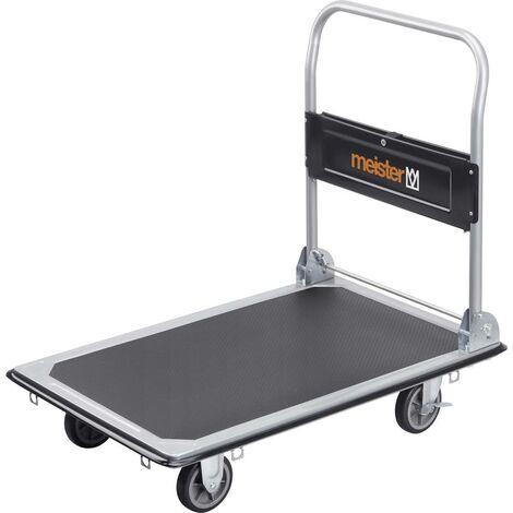 Chariot plateforme Meister Werkzeuge 8985540 pliable, avec espace de rangement acier Charge max: 300 kg 1 pc(s)
