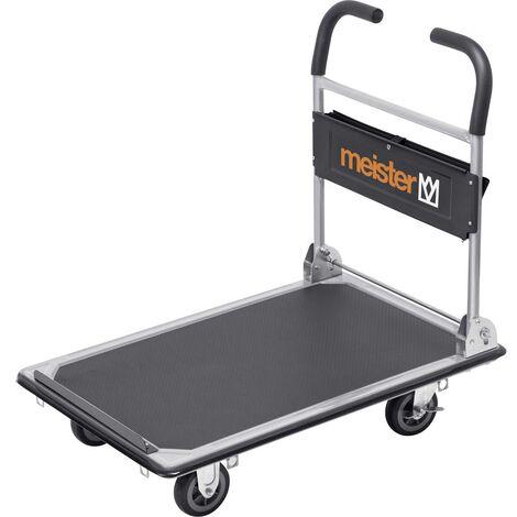 Chariot plateforme Meister Werkzeuge 8985630 pliable, avec espace de rangement acier Charge max: 300 kg 1 pc(s)
