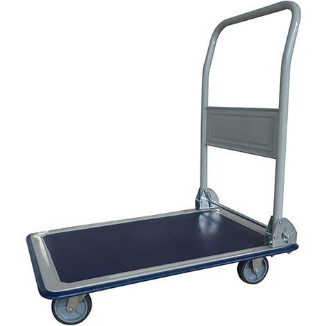 Chariot plateforme pliable en acier et plastique - capacité de charge 150 kg/