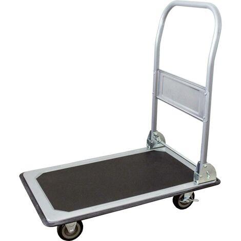 Chariot plateforme pro-bau-tec® 14020 pliable, avec système de blocage Tôle dacier Charge max: 150 kg 1 pc(s)