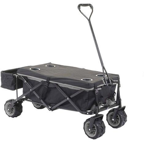 Chariot pliable HHG-425, charette à bras, pneus tout terrain