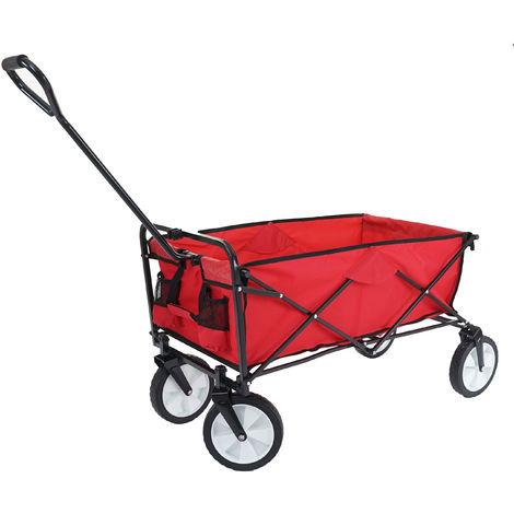 Chariot pliable HHG-551, charette à bras, charette de jardin