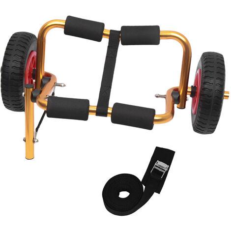 Chariot Pliable Leger Portatif De Kayak, Chariot De Canoe Avec Des Roues Mobiles