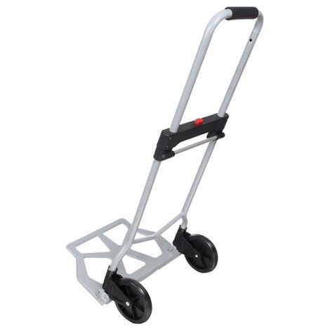 Chariot Pliable Portable à bagages main camion , argent, capacité 220 lb