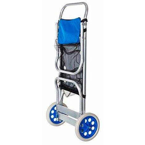 Chariot Pliable Porte Chaises Transformable en Table d'Aluminium de Solenny