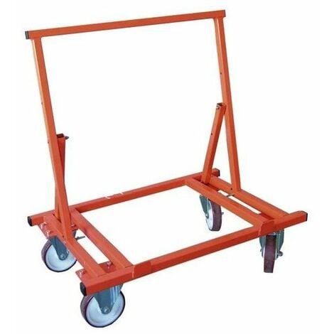 Chariot porte plaque pliable 4 roues pour 450 kgs