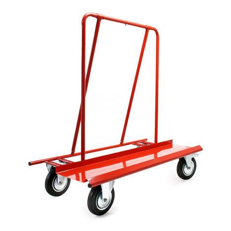 Chariot porte-plaques 800 kg max. Transport de cloisons sèches de Bois et de Placoplâtre sur 4 Roues