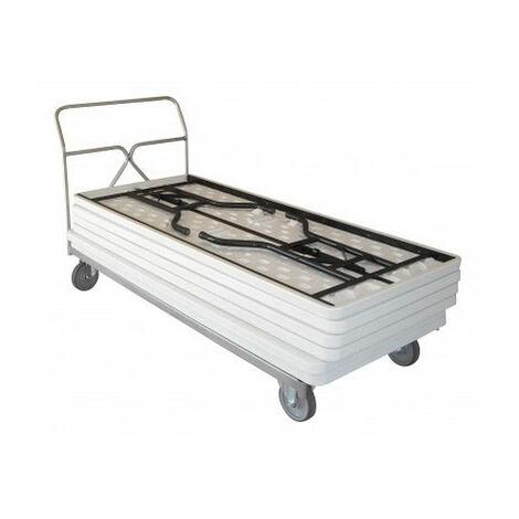 Chariot porte table rectangulaire - 400kg