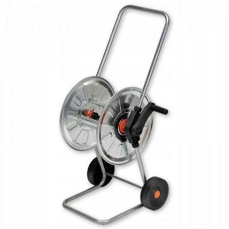 Chariot pour enrouleur de tuyau 50m métal 1/2
