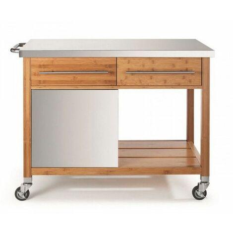 chariot pour plancha 2 tiroirs - 00067n - dm creation