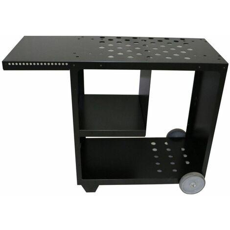 chariot pour plancha 60/70/75cm noir - ca-black - simogas