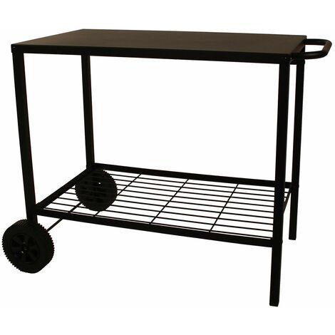 chariot pour plancha 85cm noir - 976.0006 - cooking box