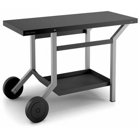 chariot pour plancha gris/noir - tra ng - forge adour
