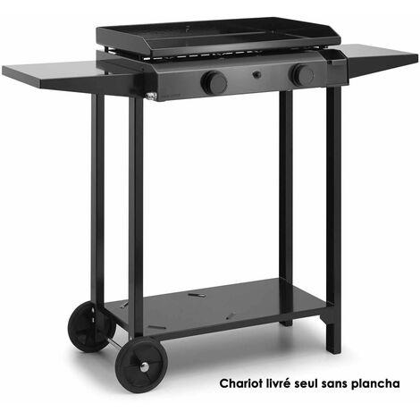 chariot pour plancha noir - chba60 - forge adour
