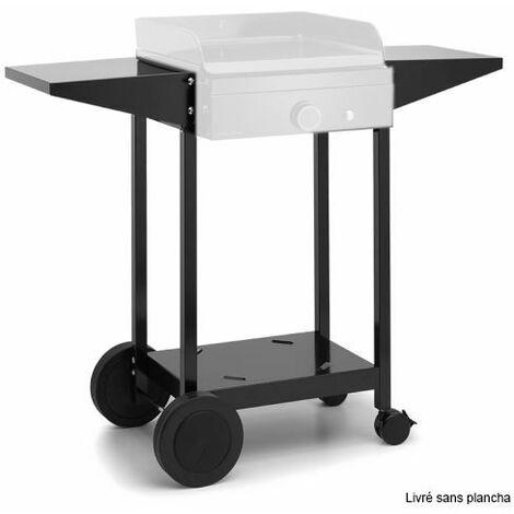 chariot pour plancha noir - choa45 - forge adour