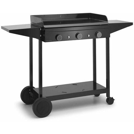 chariot pour plancha noir - choa75 - forge adour