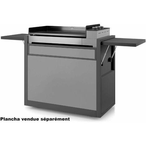 chariot pour plancha noir/gris clair - chpafng75 - forge adour