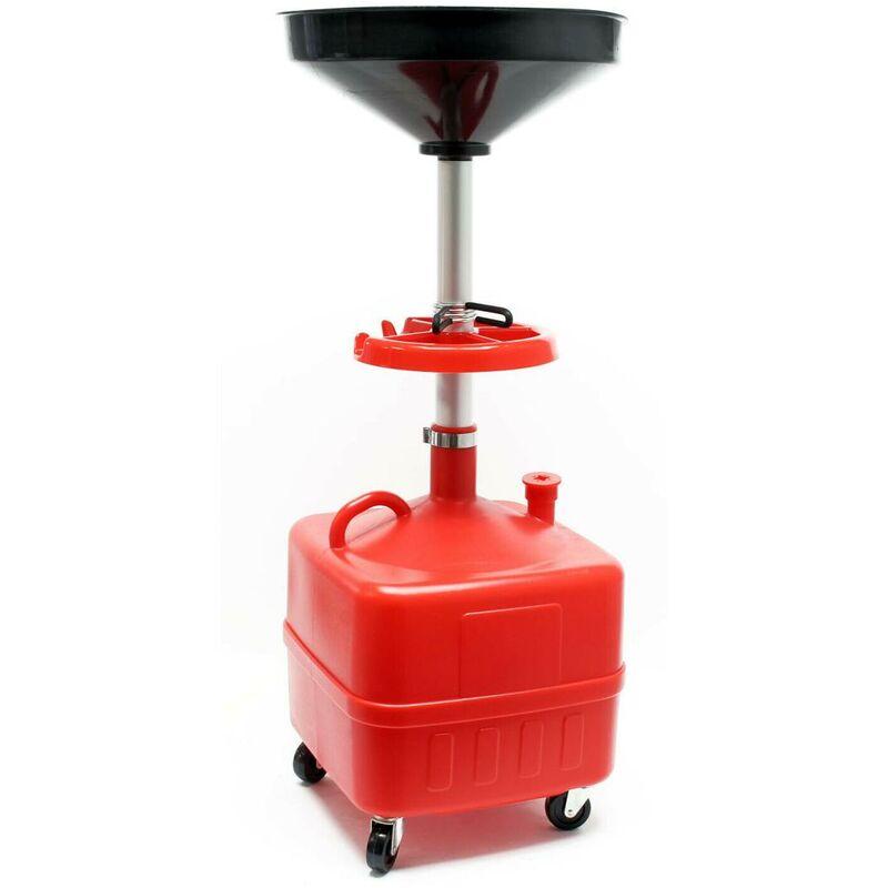 Bigb - Chariot récupérateur d'huile en plastique 35 litres