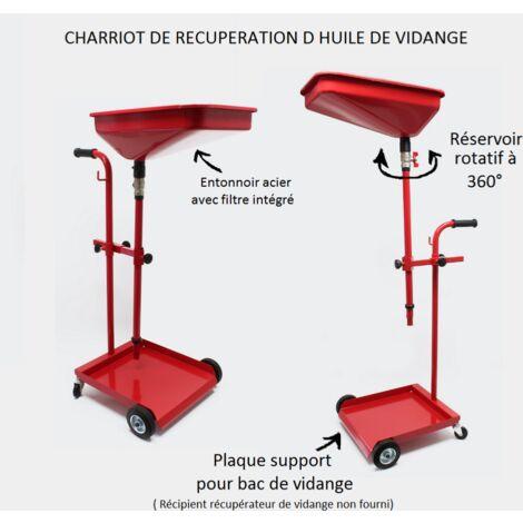 Chariot recupérateur d'huile vidange moteur WC