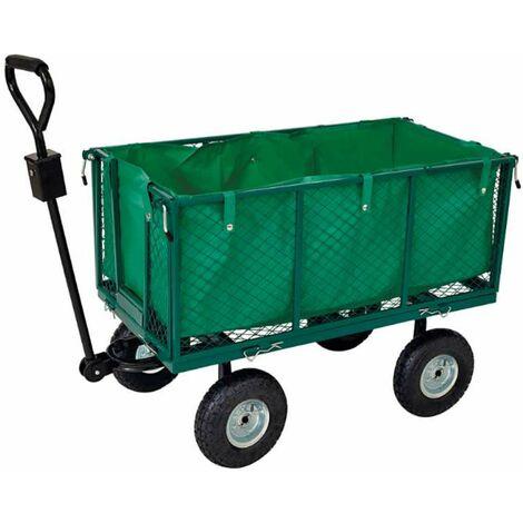 Chariot remorque de jardin grillagé Werkapro