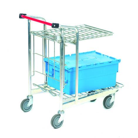 Chariot RS PRO 2 plateaux en Aluminium, 520 x 890mm, Capacité de charge 50 kg, 150 kg