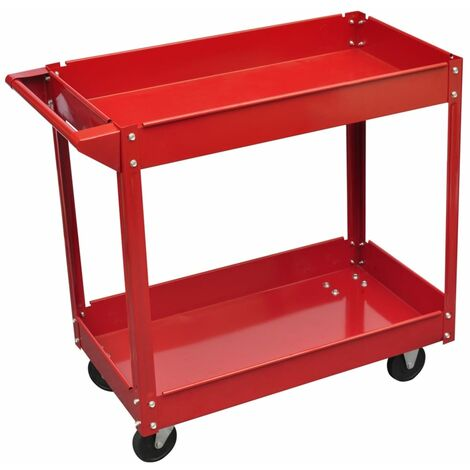 Chariot servante d'atelier charge 100 kg rouge Chariot servante d'ateliercharge 100 kg rouge 	Workshop tool trolley 100 kg