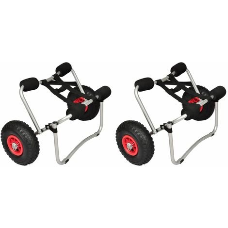 Chariots pour kayak 2 pcs Aluminium