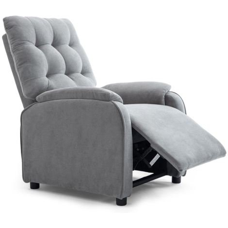 """main image of """"DUXFORD LINEN FABRIC PUSHBACK RECLINER ARMCHAIR SOFA OCCASIONAL CHAIR - different colors available"""""""