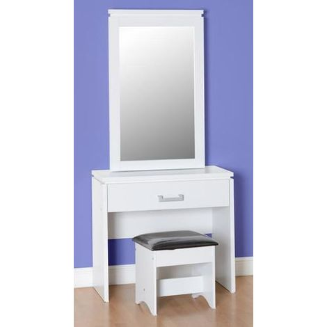 Charles 1 Drawer Dressing Table Set - White