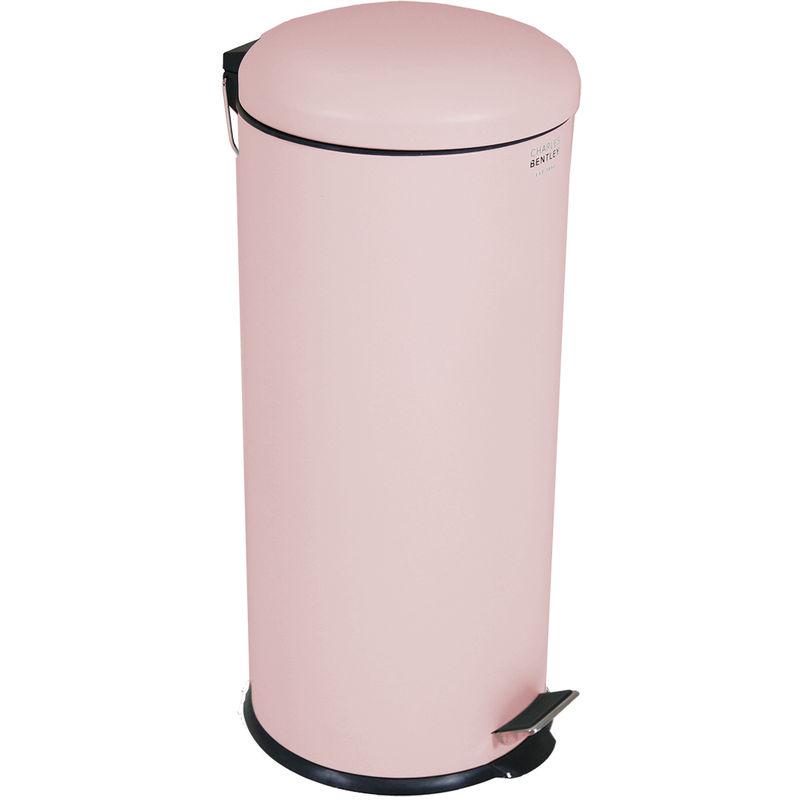 Charles 30L Dôme Poubelle Matte Rose Cuisine Pastel Sombre Pédale douce  Fermer Taille moyenne H68 x D29.2cm