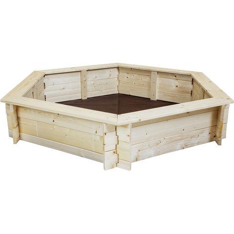 Charles Bac à sable rectangulaire en bois - pour enfant - extérieur
