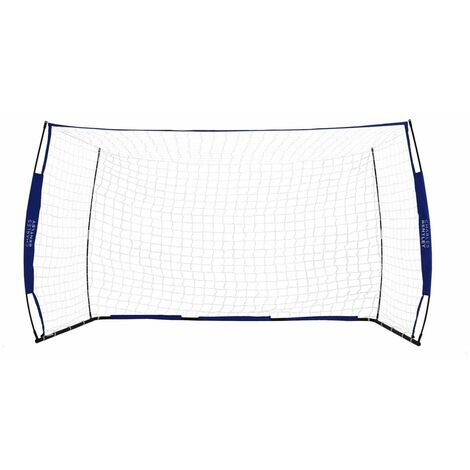 Charles Bentley 10x6ft Portable Foldable Blue Football Kick Goal With Carry Bag