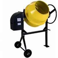 Charles Bentley 120 - 125L 230V 550W Portable Cement Concrete Mixer With Wheels