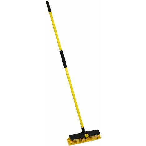 "Charles Bentley 14"" Bulldozer Yard Broom Sweeper Heavy Duty Industrial"