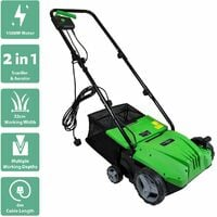 Charles Bentley 1500W 2 in 1 Electric Garden Scarifier & Aerator Lawn Raker