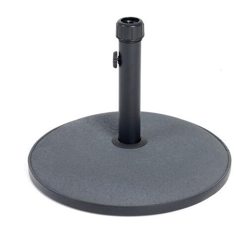 Charles Bentley 15Kg Round Concrete Parasol Base Umbrella Stand In Grey - Gray