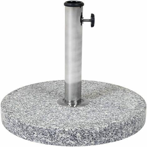 Charles Bentley 15Kg Round Granite Parasol Base Stone Umbrella Stand