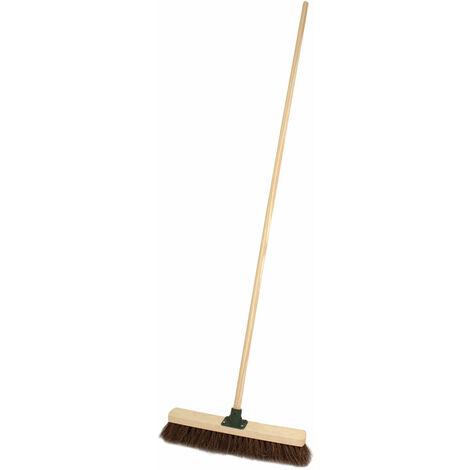 "Charles Bentley 18"" Soft Coco Broom With Handle"