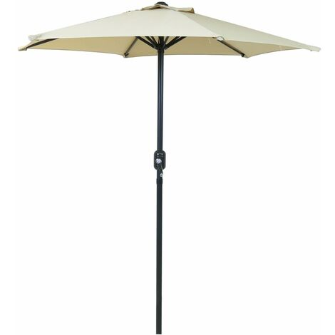 Charles Bentley 2M Patio Market Garden Parasol Umbrella Crank Function 4 Colours
