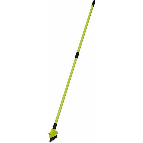 Charles Bentley 3 in 1 Extendable Patio Weed Brush Broom Set Garden Patio
