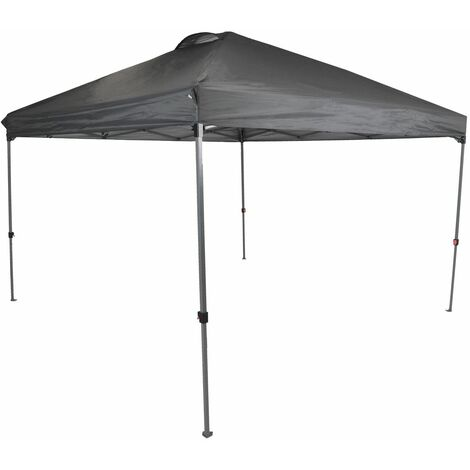 Charles Bentley 3 x 3m Pop Up Gazebo One Touch with Carry Bag - Grey - Gray